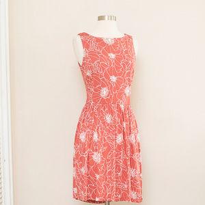 LOFT Sleeveless Print Cut Out Dress S